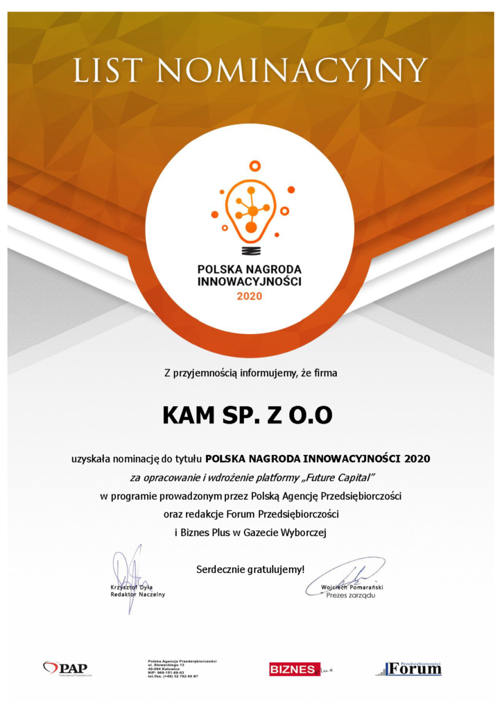 Polska Nagroda Innowacyjności 2020