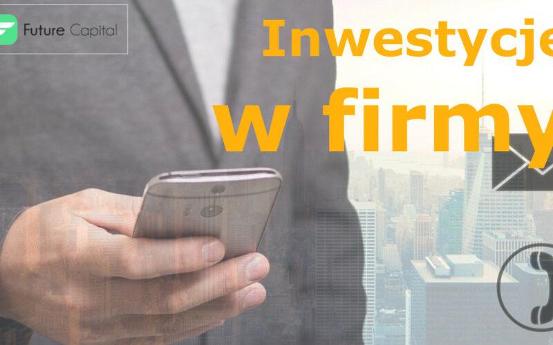 Inwestycje w firmy - zdjęcie główne - mężczyzna trzyma telefon